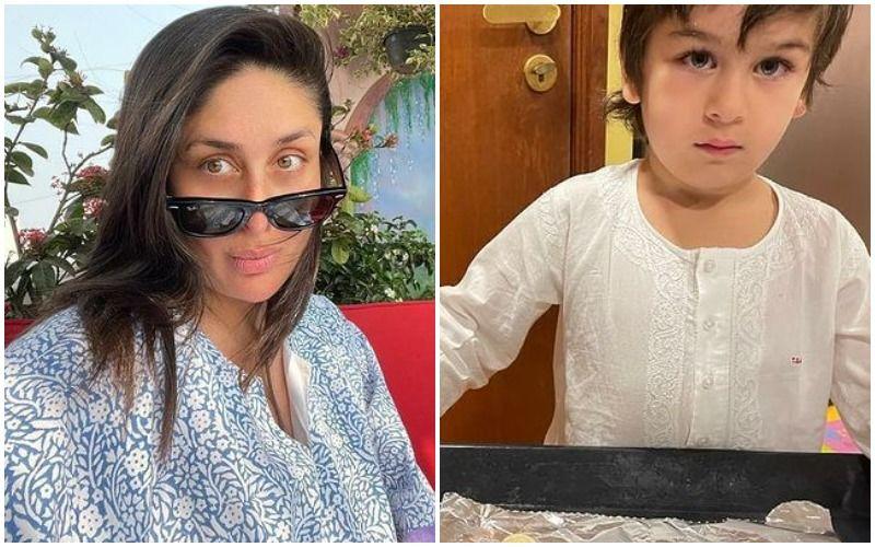 Kareena Kapoor Khan's Son Taimur Ali Khan Turns Chef; Actress Gives A Sneak Peek Of Her 'Favourite Boys' Through TimTim's Cookies