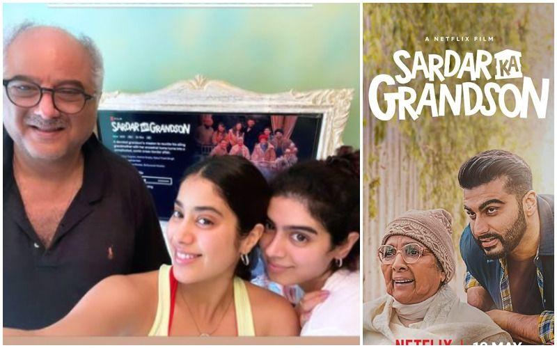 Sardar Ka Grandson: Malaika Arora, Janhvi Kapoor, Khushi Kapoor Cheer For Arjun Kapoor Starrer; Janhvi Says 'Only Family Almost As Mad As Ours'