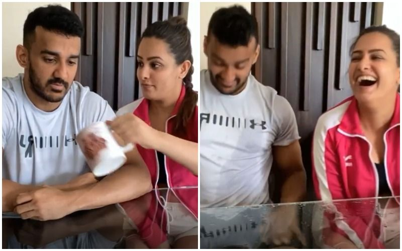 Anita Hassanandani Shows Off Her 'Magic Trick', Pranks Hubby Rohit Reddy Once Again, Leaving Him Shocked- VIDEO
