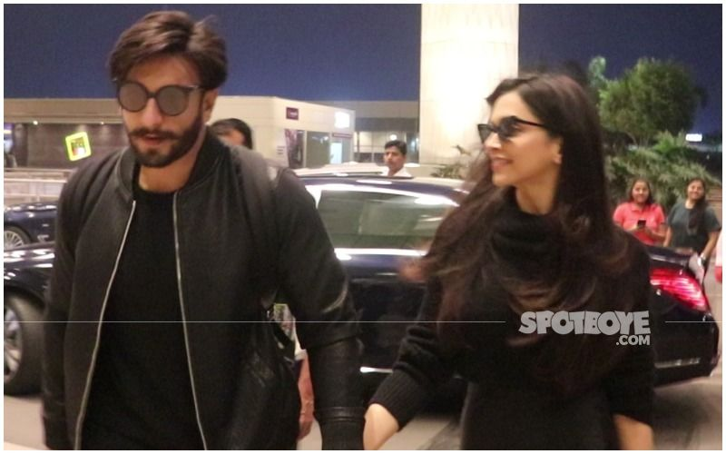 Deepika Padukone And Ranveer Singh Are Back To The Bay; Lovebirds Walk Hand-In-Hand As They Are Spotted At Mumbai Airport- VIDEO