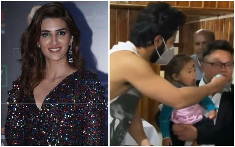 Kriti Sanon Shares BTS Image From Bhediya; Poses With The Little Girl Whom Varun Dhawan Skipped Feeding The Cake In Viral Video