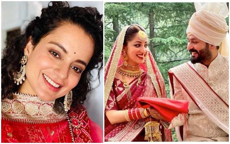 Kangana Ranaut Shares Yami Gautam's Wedding Picture; Says 'Nothing More Divine Than A Raw Mountain Girl Turned Bride'