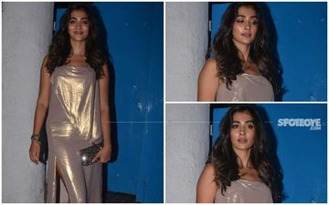 FASHION CULPRIT OF THE DAY: Pooja Hegde, Did You Step Out After Taking A Dip In Molten Rose Gold?