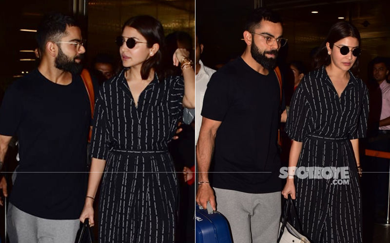 Post World Cup 2019, Virat Kohli-Anushka Sharma Return To India; Couple Drops Subtle Smile Pleasing The Paps