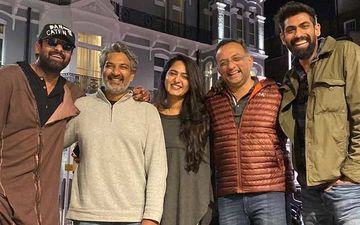 Baahubali Reunion: Prabhas Reunites With Anushka Shetty, Rana Daggubati And SS Rajamouli In London; Cast To Experience Live Rendition Of Film Score
