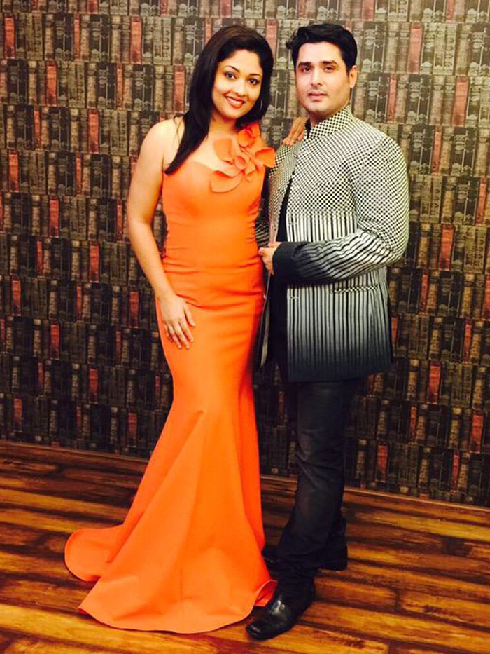 prachi thakker poses with husband karan thakker