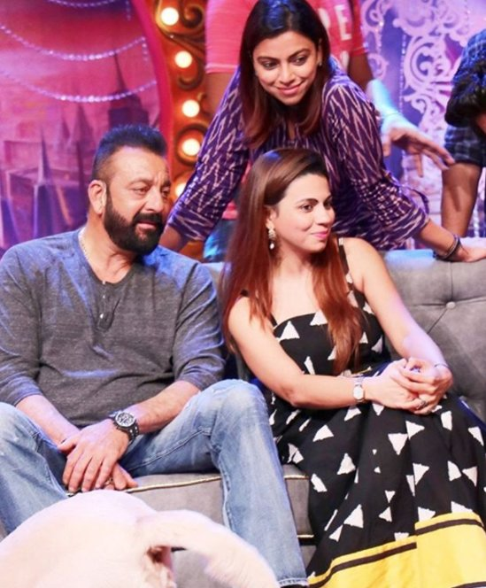preeti with sister neeti simoes and sanjay dutt