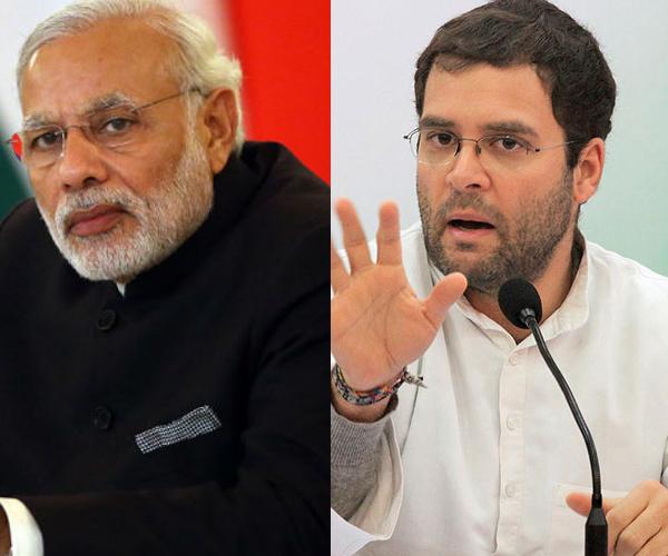 prime minister narendra modi and rahul gandhi during 2014 elections