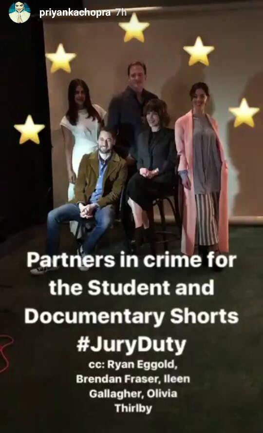 Priyanka Chopra and the jury for the Students and Documentary Shorts Tribeca 2017