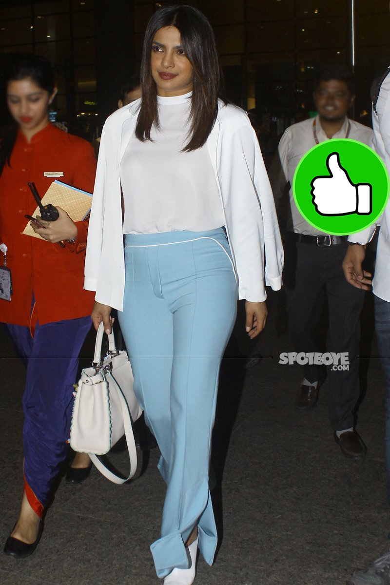 priyanka chopra at the mumbai airport