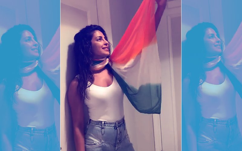 STOP TROLLING! What Wrong Did Priyanka Chopra Do By Wearing A Tricolour Scarf?