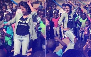Priyanka Chopra Teaches African Kids How To Do The Bollywood Thumka