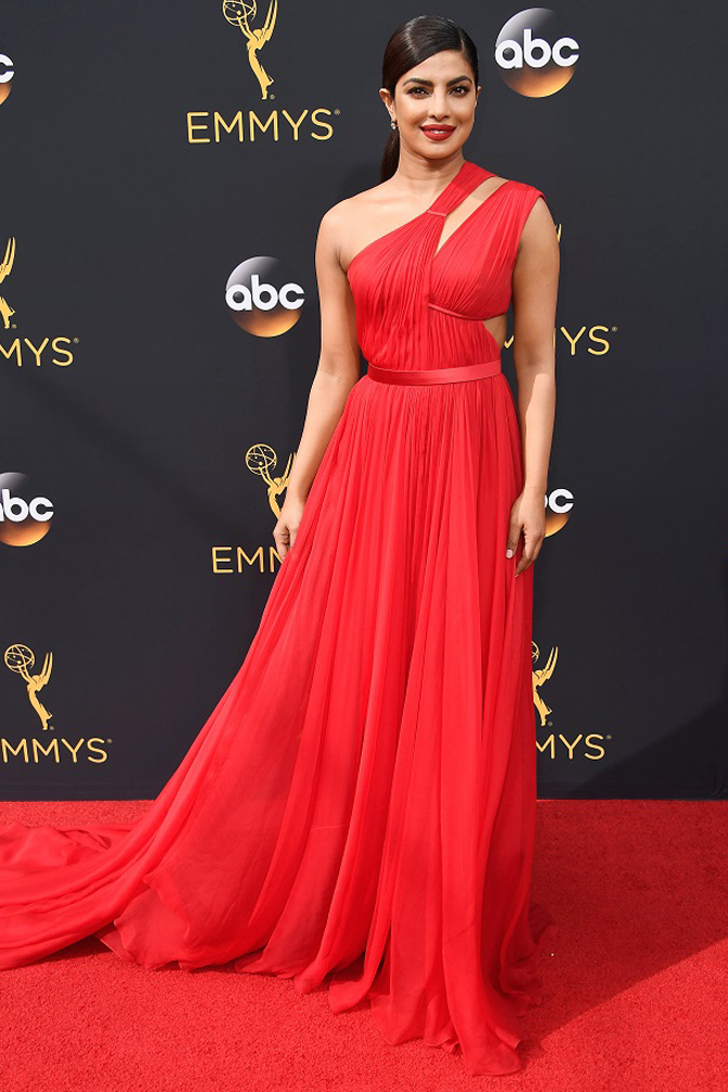 priyanka chopra emmys 2017 red dress