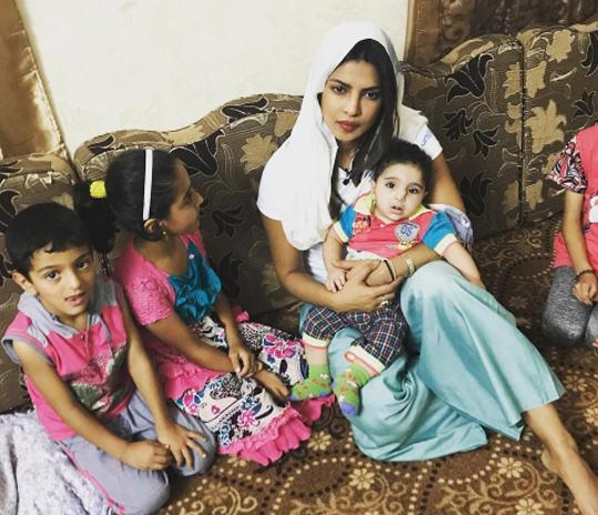 priyanka chopra in jordan on mission for children