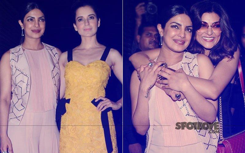 Priyanka Chopra's Star-Studded Bash: Kangana Ranaut Reunites With Her Fashion Co-Star, Sushmita & PeeCee's Adorable Hug