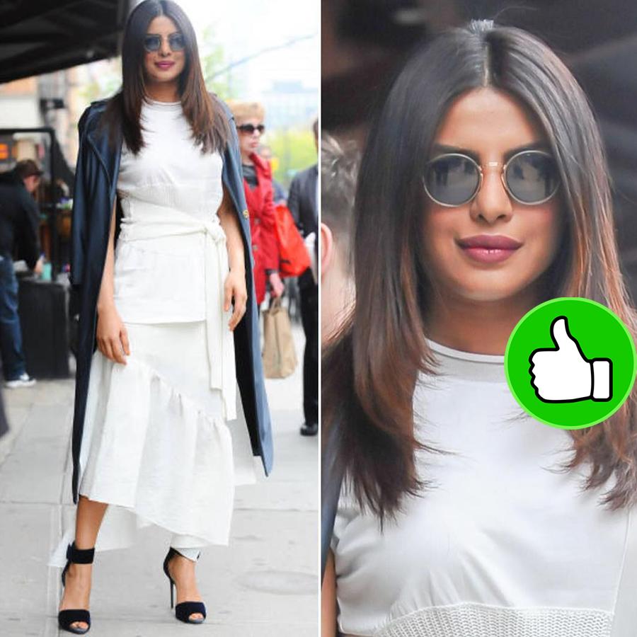 priyanka chopra looks so prety in this white shirt