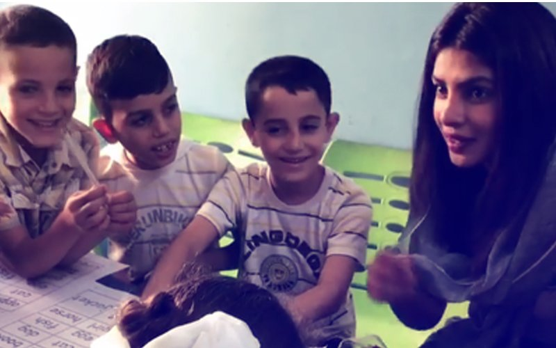 Priyanka Chopra Meets Syrian Refugee Children In Jordan, Says They Are Her Inspiration