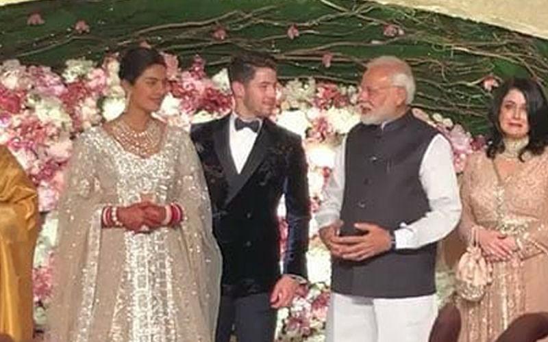 प्रियंका चोपड़ा और निक जोनस को विश करने रिसेप्शन में पहुंचे PM मोदी