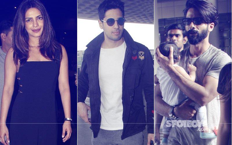 SPOTTED: Priyanka Chopra, Sidharth Malhotra, Shahid Kapoor And Many More At The Airport
