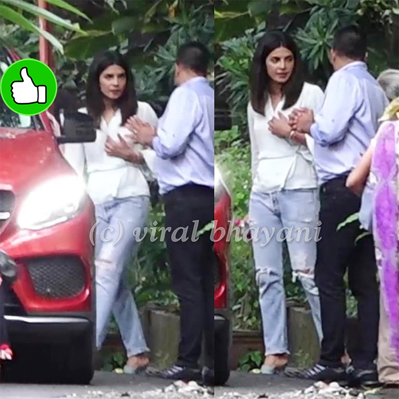 priyanka chopra snapped at a church in bandra