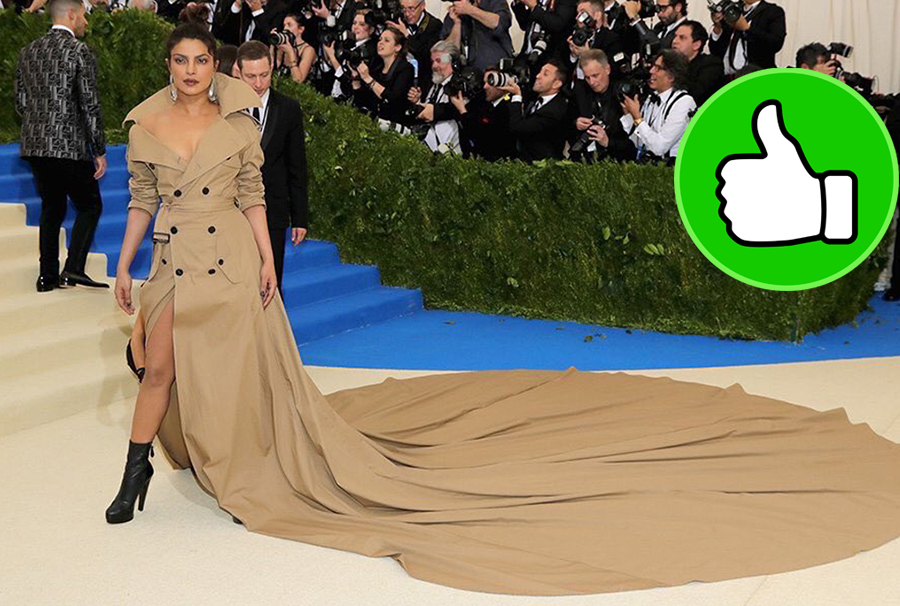 priyanka chopra spotted at the met gala 2017