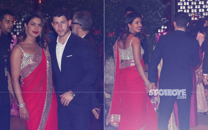 Ambani Bash: Wearing The Colour Of Love (Red), Priyanka Makes An Entrancing Entry With Nick