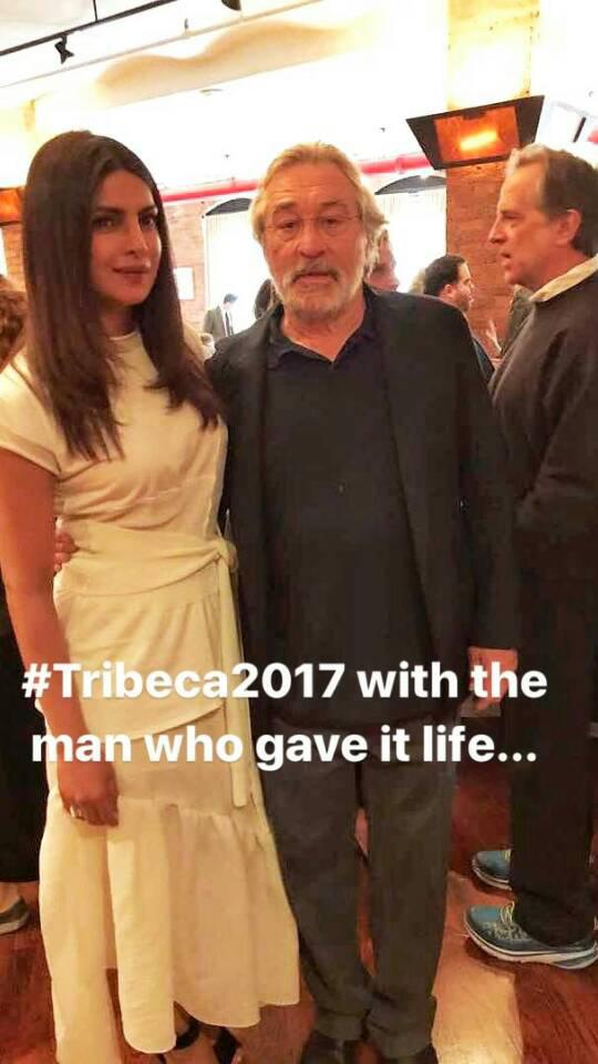 priyanka chopra with robert de niro at the tribeca film festival jury meet
