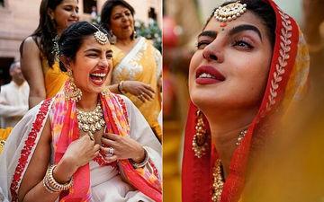 सोशल मीडिया पर वायरल हो रही हैं प्रियंका चोपड़ा और निक जोनस की हल्दी और चूड़ा सेरेमनी की यह तस्वीरें