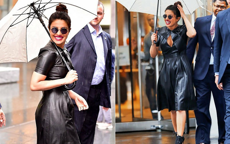 Priyanka Chopra Redefines Hotness In A Black Leather Dress!