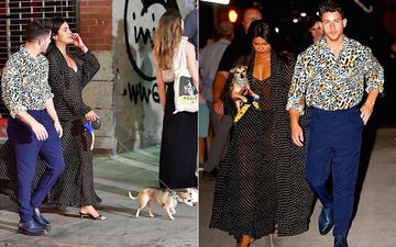 Priyanka Chopra Rocks A Translucent Maxi As She Strolls With Nick Jonas, Actress' Pooch Diana Accompanies Them - See Pictures