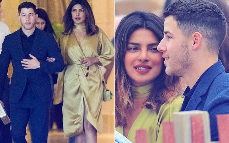 Priyanka Chopra & Nick Jonas Arrive Hand-In-Hand At Latter's Family Wedding