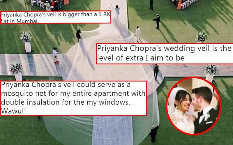 Memes On Priyanka Chopra's Wedding Gown: Actress' 75-Feet-Long Veil Has The Internet Laughing Out Loud