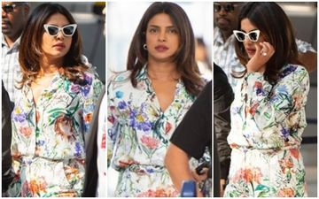 FASHION CULPRIT OF THE DAY: Priyanka Chopra Jonas, The Pantsuit Is Alright But Don't Wish To Visit That Flower Garden!