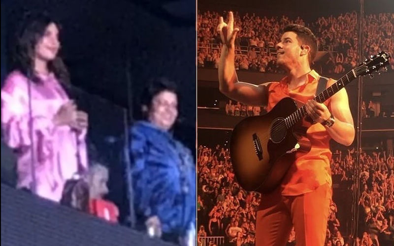 "Fans Go Hysterical As Nick Jonas Gestures ""I Love You"" On-Stage While In Concert; Melts Priyanka Chopra's Heart Into A Puddle"