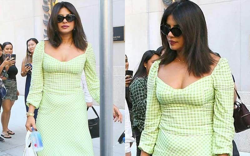Priyanka Chopra Jonas Is Sexy And She Knows It! Actress Slays In The Pistachio Green Check Dress