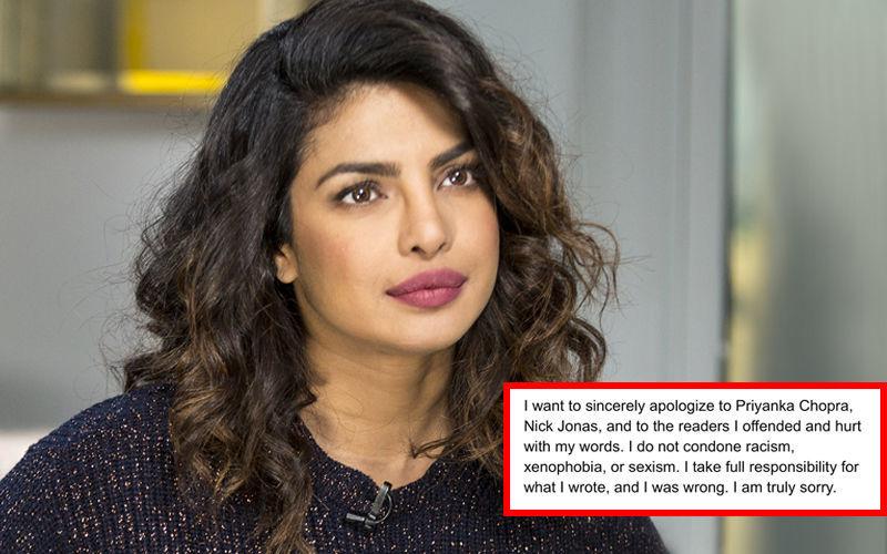 प्रियंका चोपड़ा को 'स्कैम आर्टिस्ट' कहने वाले लेखिका ने माफी मांगी