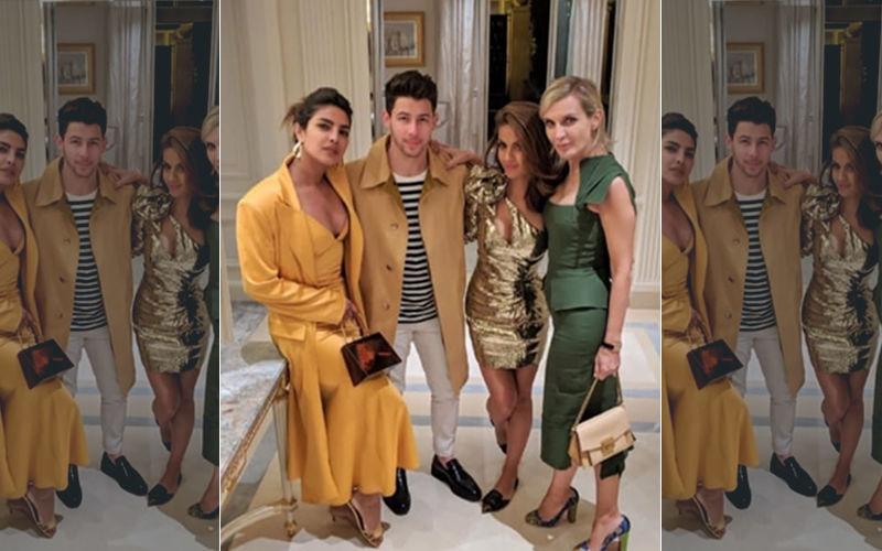 Priyanka Chopra Looks Sensational Sporting An Ultra-Plunging Neckline At The Paris Fashion Week After Party