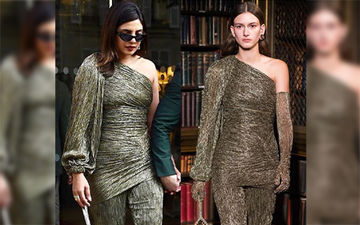 Fashion Culprit Of The Day: Priyanka Chopra In Peter Pilotto Shimmery Suit