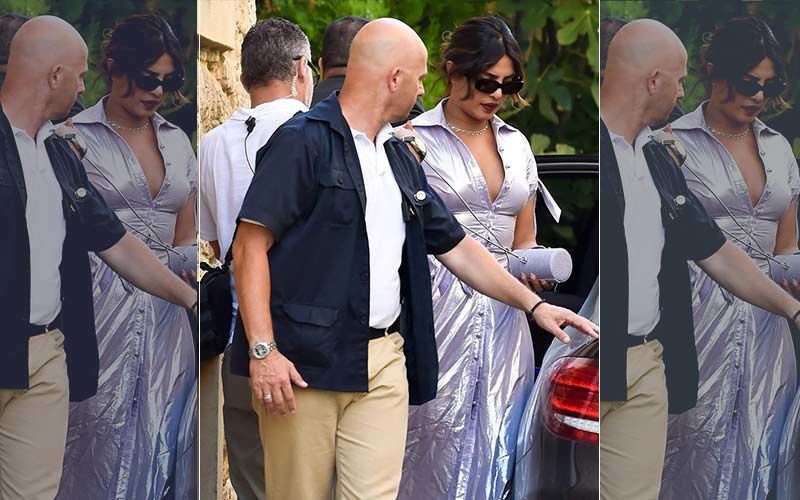Priyanka Chopra Slays In Sexy Thigh-Slit Metallic Dress - New Pics From Paris