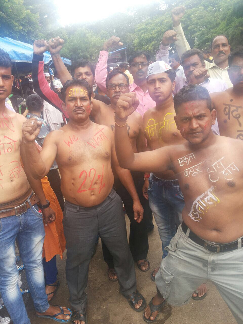 protests carried out by fwice at goregaon film city