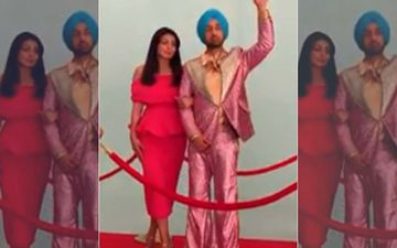 Diljit Dosanjh and Neeru Bajwa Create Funny Met Gala Moment in the Studio