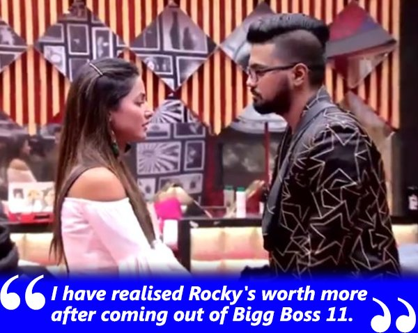 i have realised rockys worth more after coming out of bigg boss 11