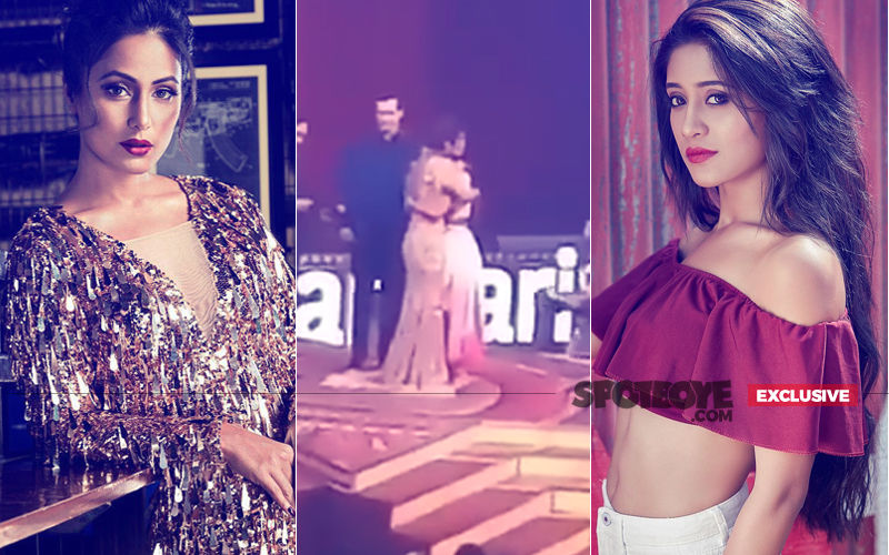 Wow! No Sour Feelings Anymore. Hina Khan Hugs Shivangi Joshi At Star Parivaar Awards 2018