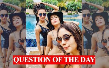 QUESTION OF THE DAY:  Who Looks The Hottest In This Picture- Erica Fernandes, Hina Khan Or Pooja Banerjee?