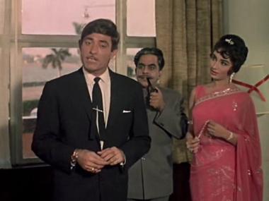 raaj kumar with actress sadhana