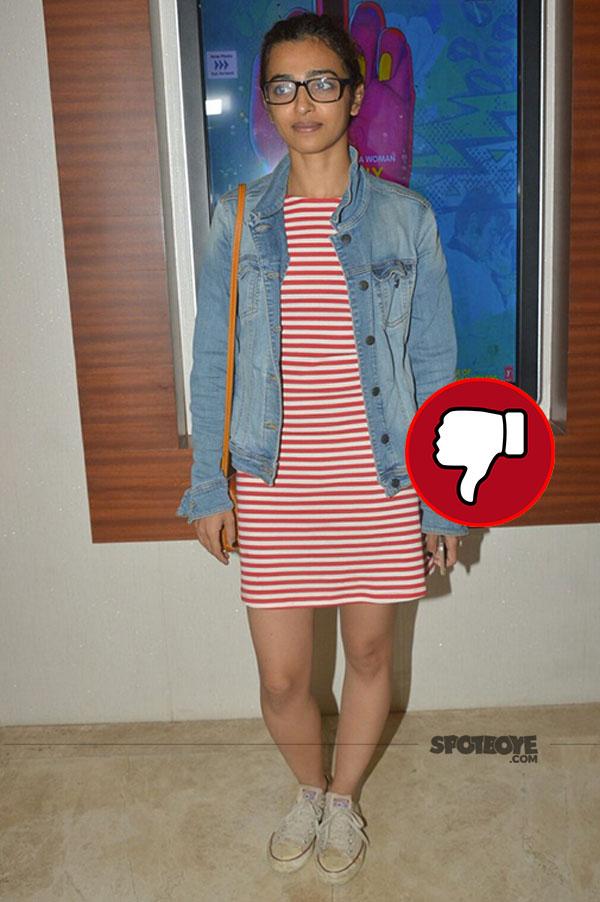 radhika apte wore a dress to lipstick under my burkha screening