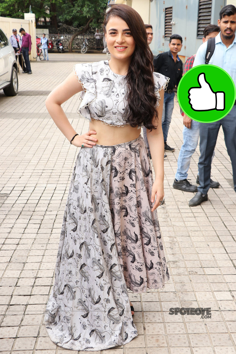radhika madan promotes her upcoming movie patakhaa in mumbai