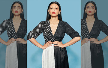 Radhika Apte Artsy New Look In Color Blocking Black And White Dress Is Trending