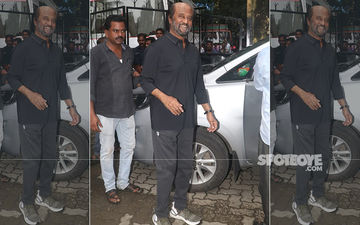 Rajinikanth Spotted In Mumbai Post Shoot, Superstar Smiles Wholeheartedly For Paps