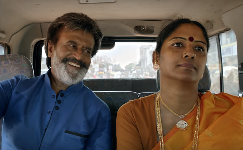 rajinikanth and eswari rao in kaala